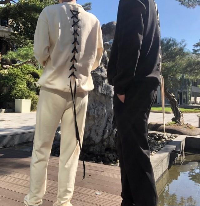 予約注文商品 2ラインベーシックパンツ スウェットパンツ ラインパンツ 韓国ファッション