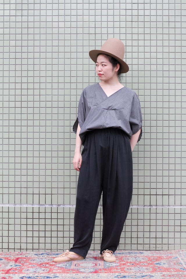 【Otsu】smoky quartz pants (s.black)