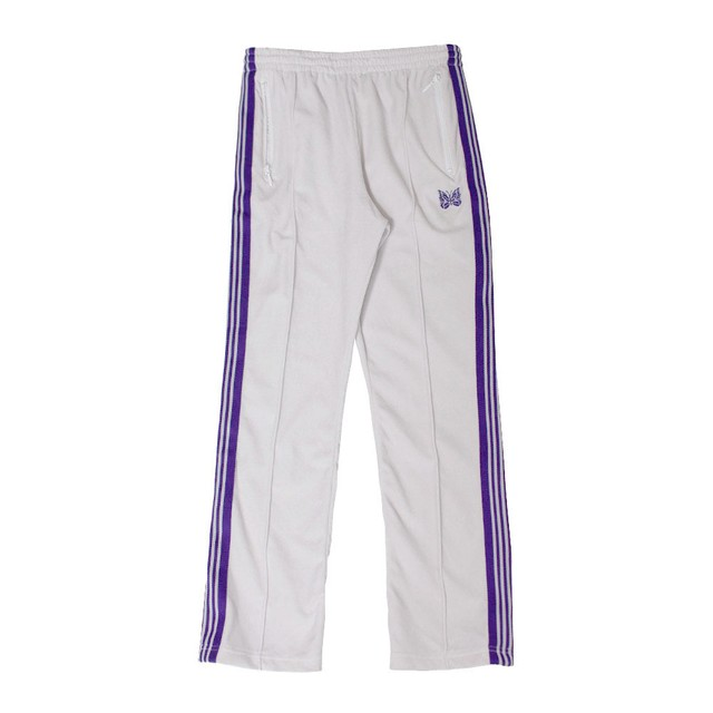 NEEDLES Velour Narrow Track Pants White