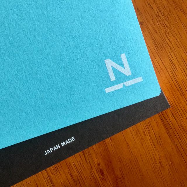 ノンブルノート「N」(07)ターコイズ×ダークブラウン
