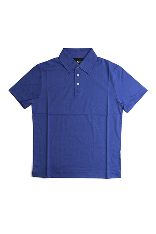 《Made in France》オリジナル 半袖 ジャージポロシャツ 3つ釦 〈ロイヤル〉