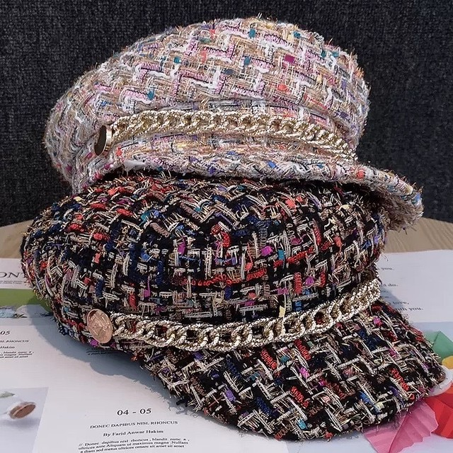 color tweed casquette 2color