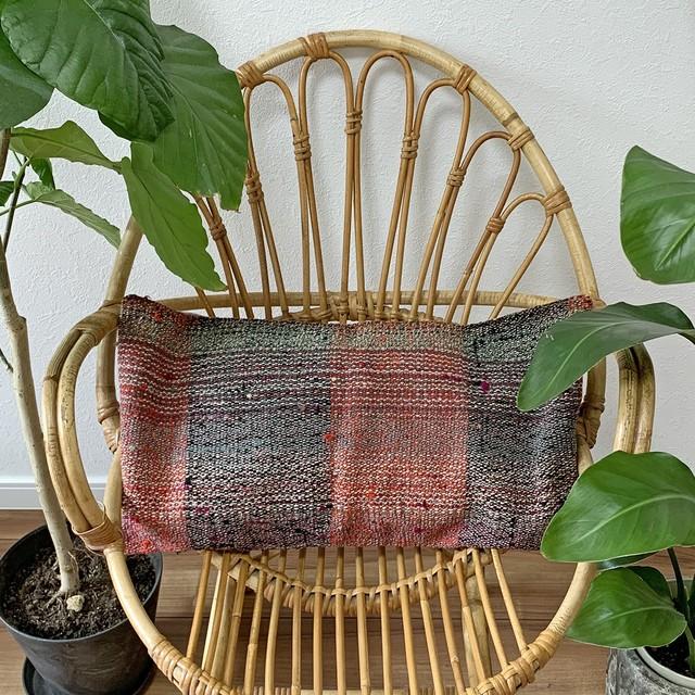 手織り キリム クッション 長方形ロング C048
