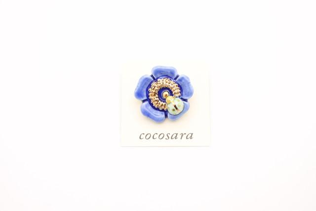 有田焼ブローチ 花×てんとう虫 ①