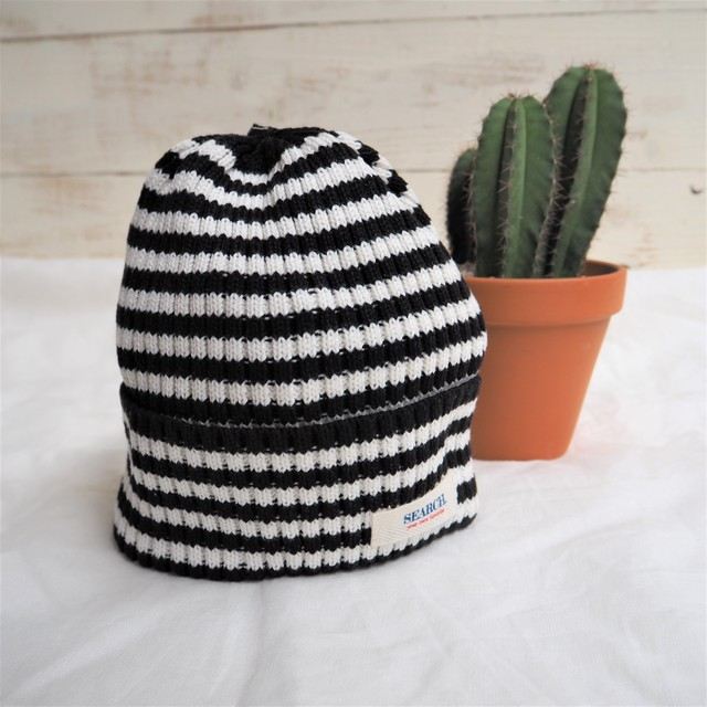 SEARCH. Knit Cap 《BLACK&WHITE》17380761