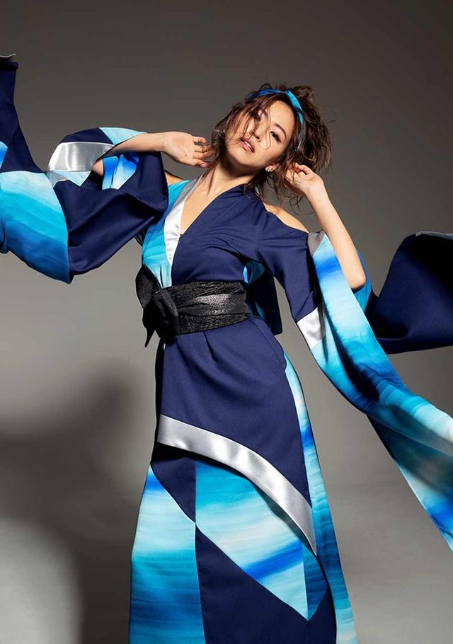鳳凰ドレス(phoenix dress)丹後ブルー