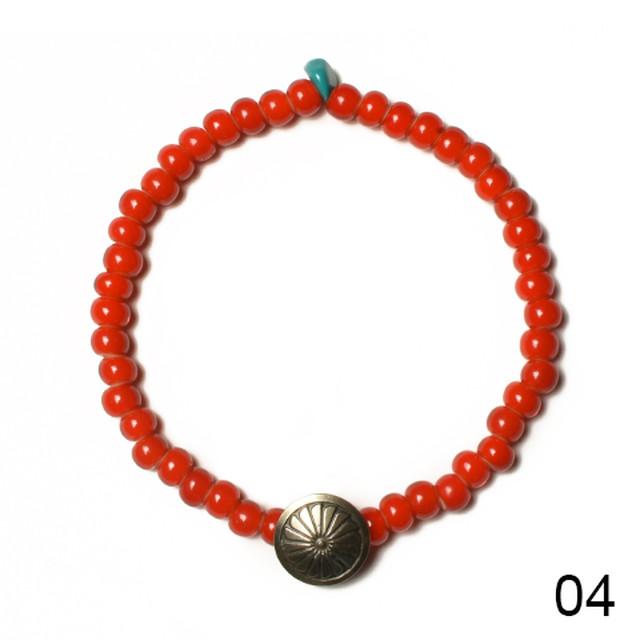 Button Works(ボタンワークス) White Hearts Concho Bracelet (ホワイトハーツコンチョブレスレット) Type:B