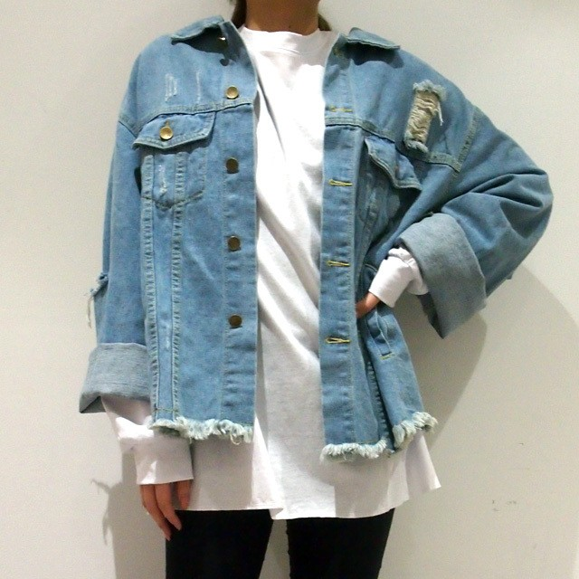 unisex 【RE-ARRIVAL】 BIG  DAMAGE DENIM JKT
