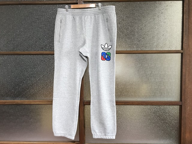 ADIDAS SLIM LABEIS SWEAT PANTS (HEATHER GREY)