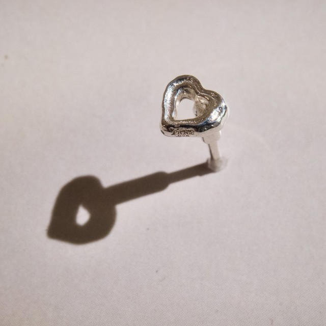 bone HEART body earring straight silver925 16G #LJ21043P  14G #LJ21044P