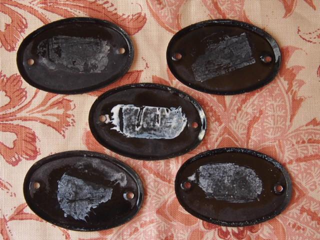 琺瑯ナンバープレート(5個セット)