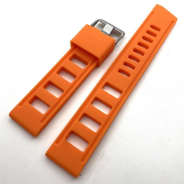 スキューバ・ラバーストラップ オレンジ  20mm 腕時計ベルト
