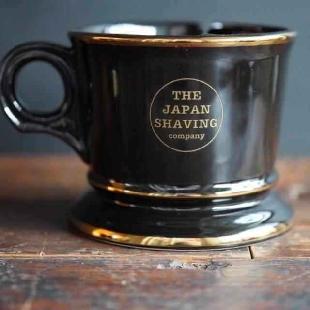 ヴィンテージルック 二層シェービングマグ JAPAN MADE ブラックxゴールド