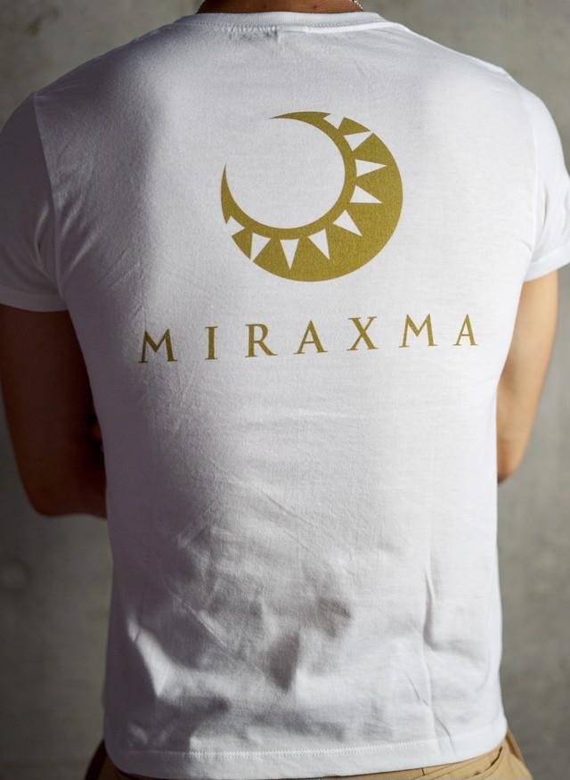 【限定モデル】半袖/ホワイト/左胸ゴールド | MIRAXMA-ミライイマ-