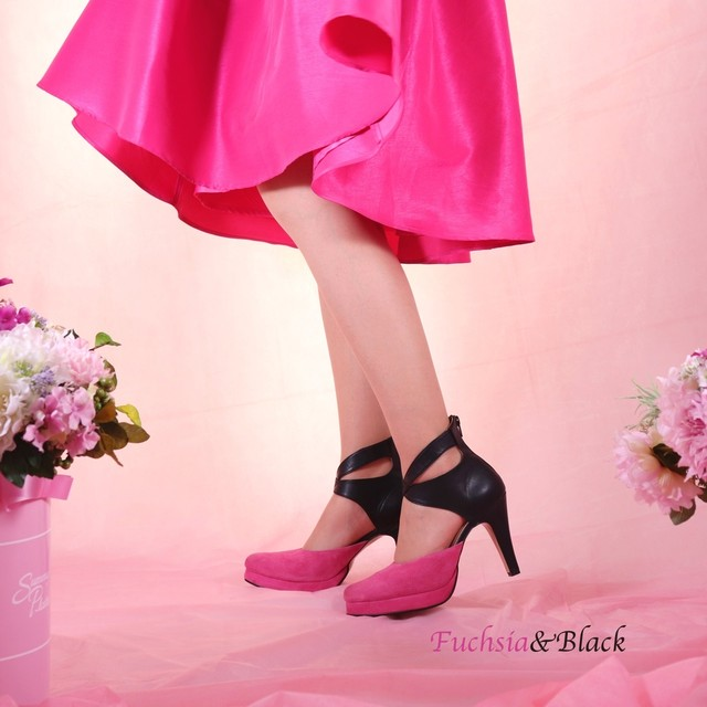 パンプスLady Fuchsia×Black