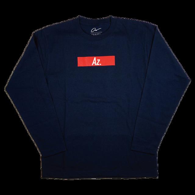 【Az.】ロゴTシャツ(ロング)<ネイビー>