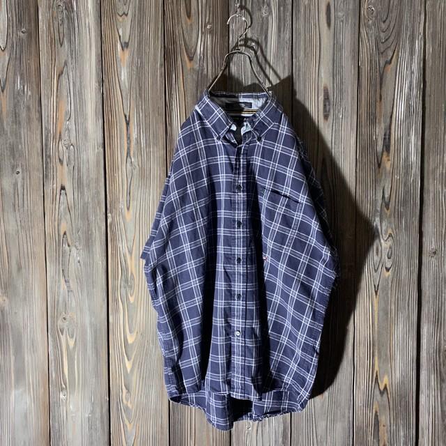 [TOMMY]dark navy check shirt