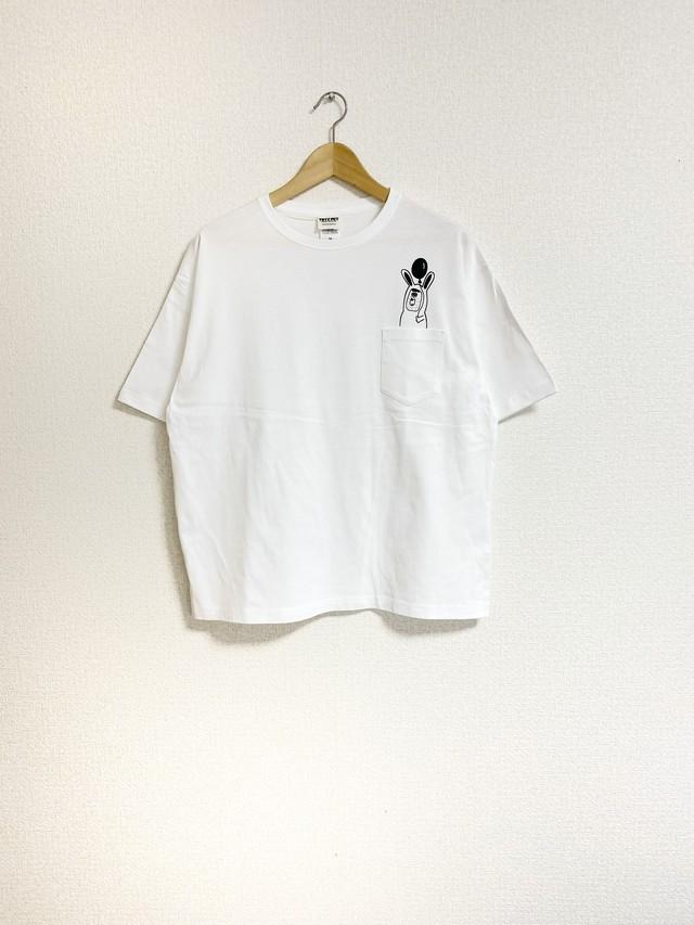 うさうさポケットTシャツ(ビッグシルエット)
