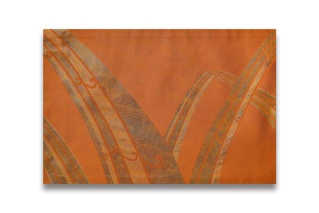 ランチョンマット・3枚セット / 古代錦・名古屋帯「滝つ瀬」橙/ ORM-NKOD3-M47-C53-2