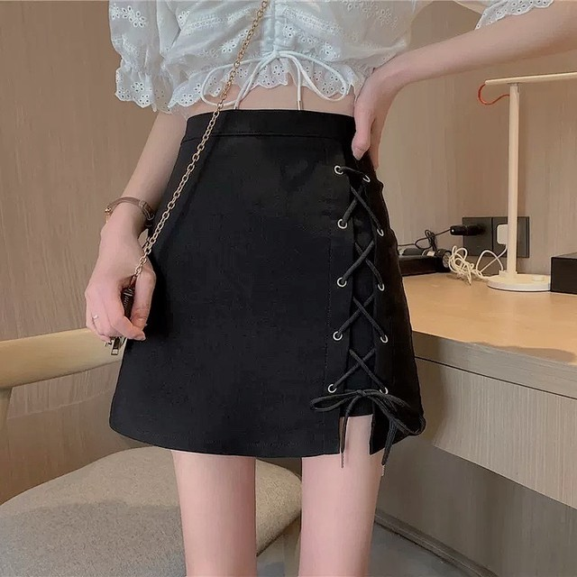 side lace up skirt
