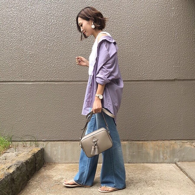 リネン混 シャツ 2色