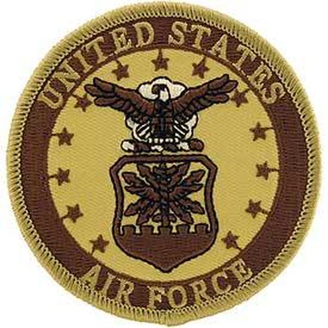 引続きセール主力商品20%OFF!  【ミリタリー】U.S.Air Force シンボル 合衆国空軍 デザート仕様【ワッペン】