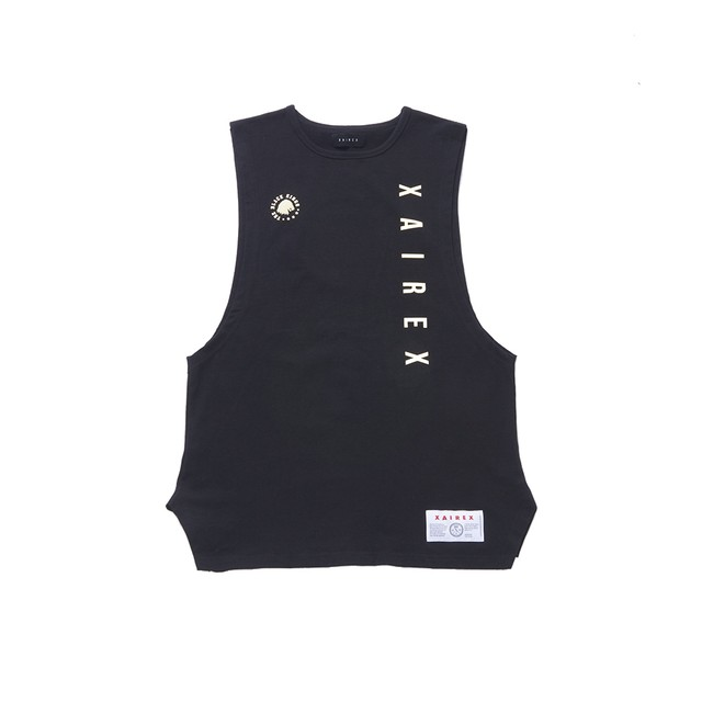 VERTICAL LOGO TANK(BLACK)