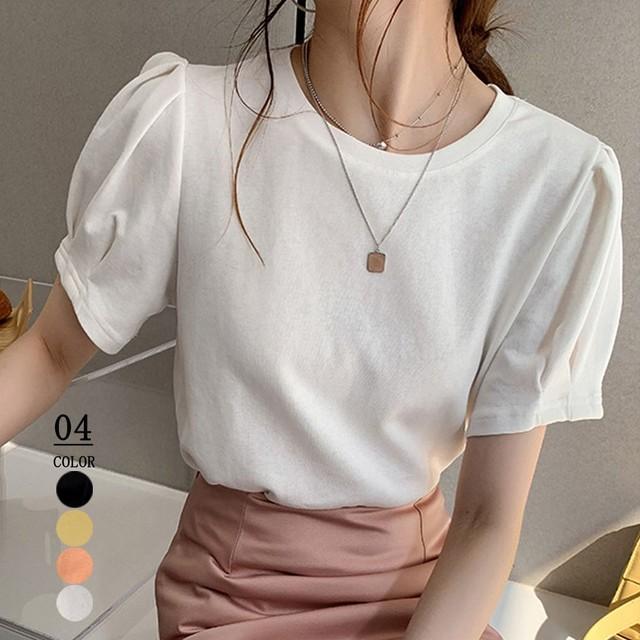 Tシャツ レディーストップス 半袖 カットソー 韓国ファッション カジュアル 即納