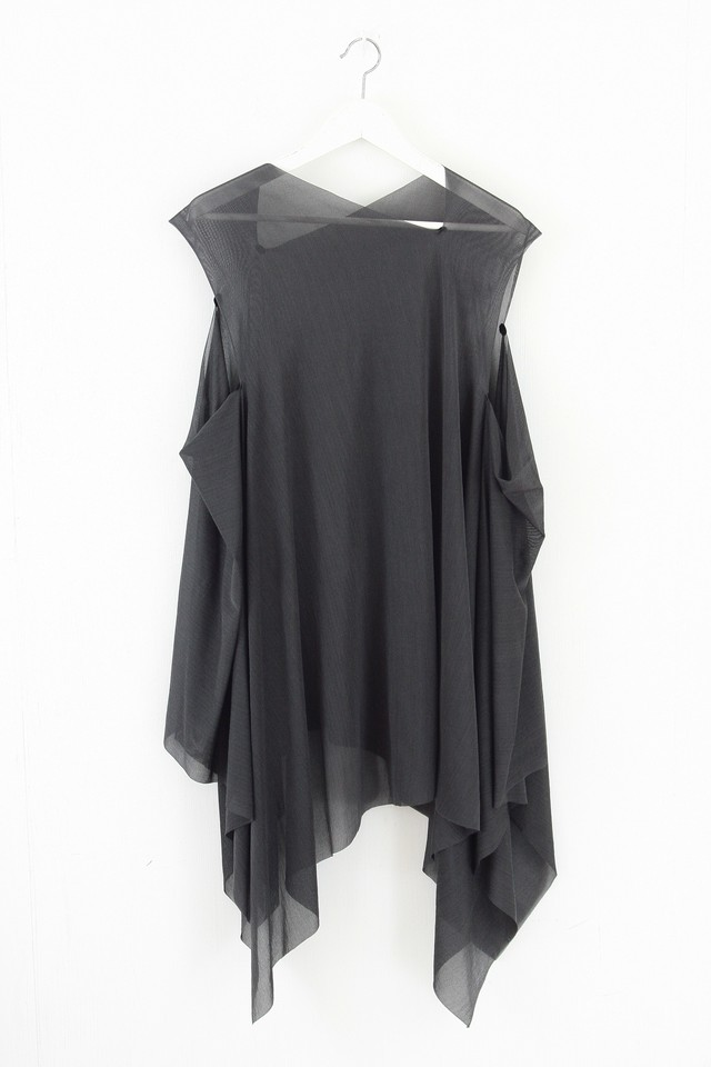 [着るストール]2322 RESORT DRESS/STOLE  GRAY SILK