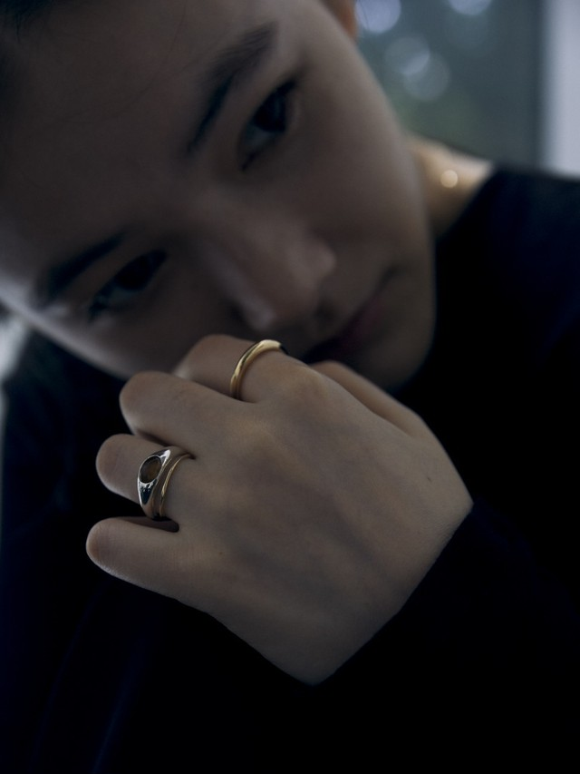 <9/20 予約販売>smoky quartz gem round p002 ring