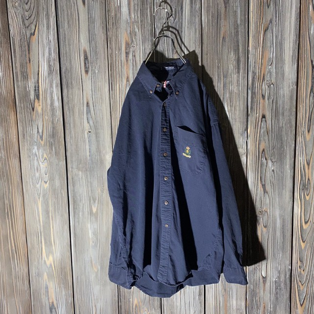 [Chaps]one point navy  shirt