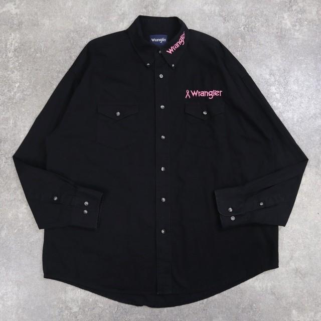 Wrangler embroidery Black shirt
