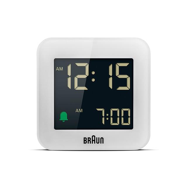 BRAUN (ブラウン) Digital Clock BC08W【ホワイト】