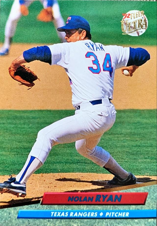 MLBカード 92FLEER Nolan Ryan #141 RANGERS
