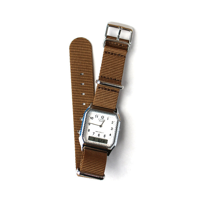 CASIO BASIC WATCH DIGI-ANA 03 / NATO-type Strap / Beige