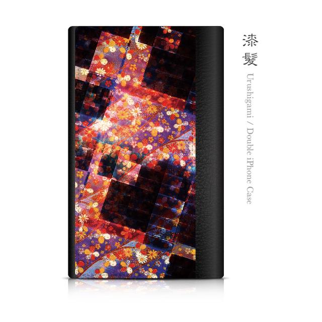 漆髪 - 和風 ダブルiPhoneケース