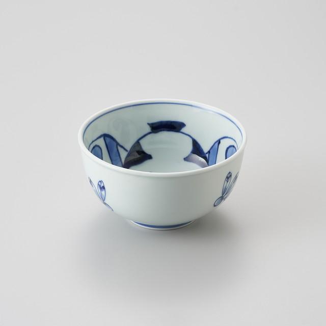【青花】奴凧 玉渕4.5寸丼