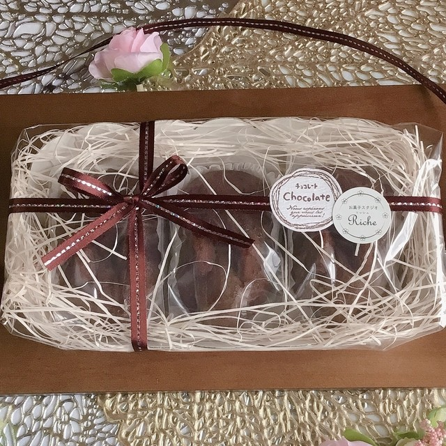 【月~金曜日発送】チョコ焼きうさぎ3羽セット(焼き菓子/フィナンシェ/お菓子ギフト)