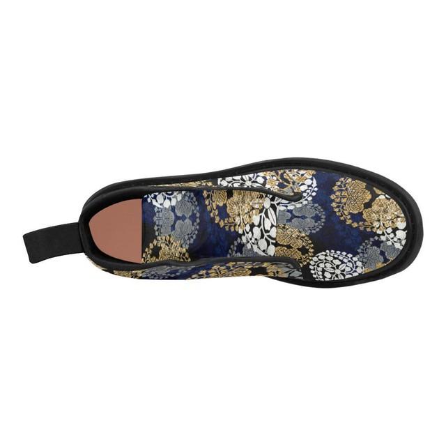 家紋装飾Blue Gold メンズ&レディースマーチンブーツ