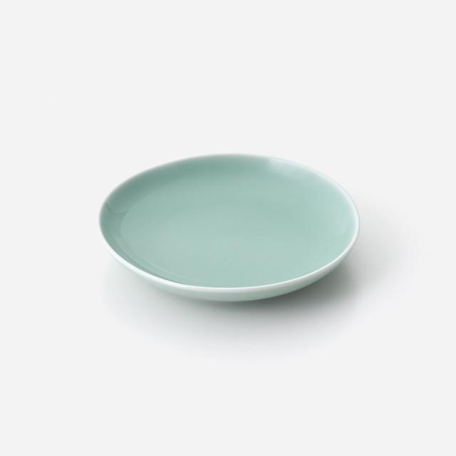 青白磁 縁波平皿