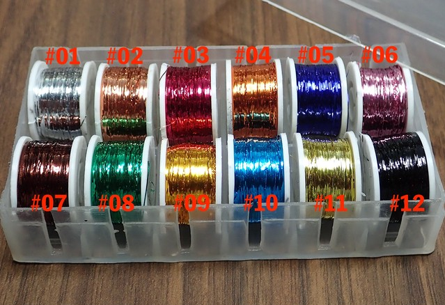 Flat Tinsel Colored 0.3mm幅  10m/spool