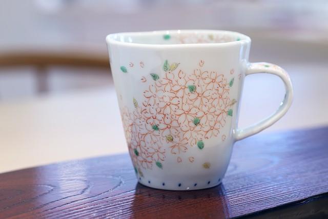藍水 桜 マグカップ(小) うつわ藍水 波佐見焼