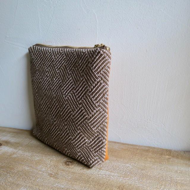 手織りと本革 マルチポーチ