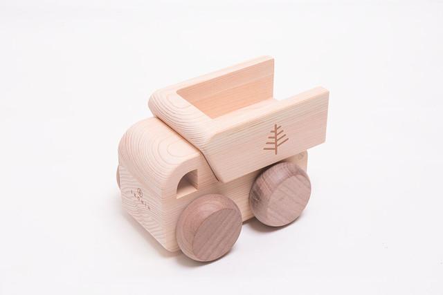 オルゴールトラック MUSIC TRUCK ♫カントリーロード | 木のおもちゃ 出産祝い 車のおもちゃ