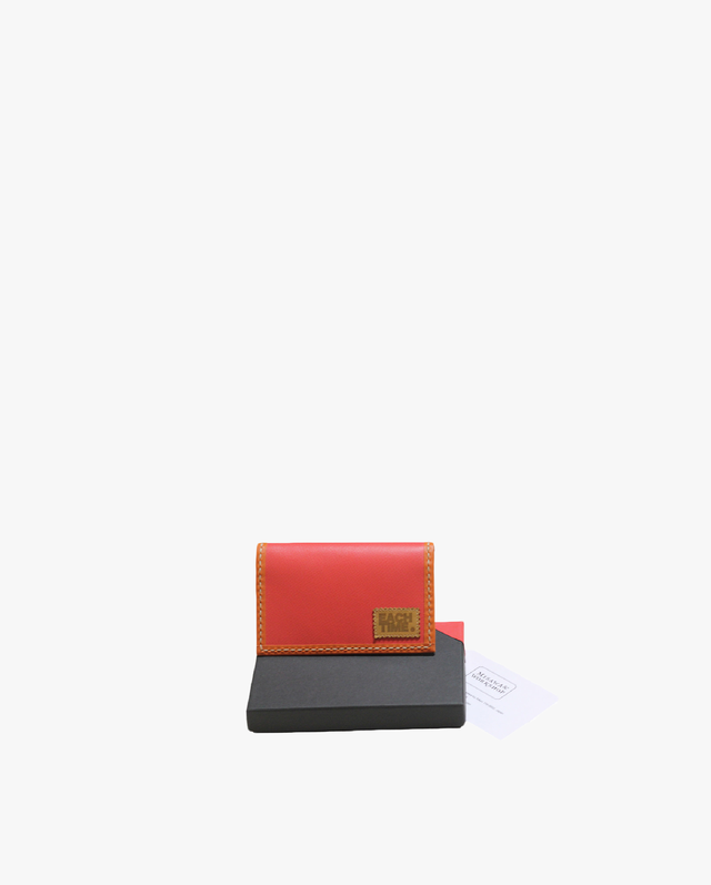 "×MISAWA & WORKSHOP CARD CASE ""HERMES LEATHER PINK"""