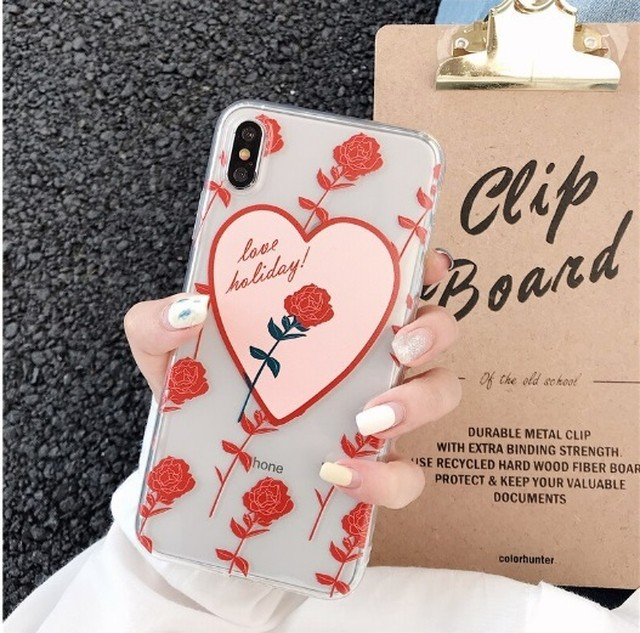 【オーダー商品】Red rose love iphone case