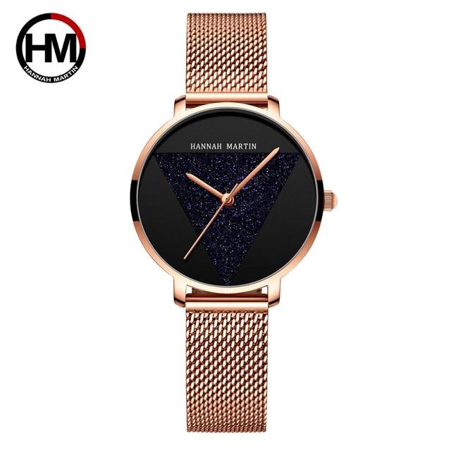 オリジナルデザインの女性用時計ファッションジャパンクォーツムーブメントステンレススチールローズゴールド防水腕時計relogiofeminino1332WF3