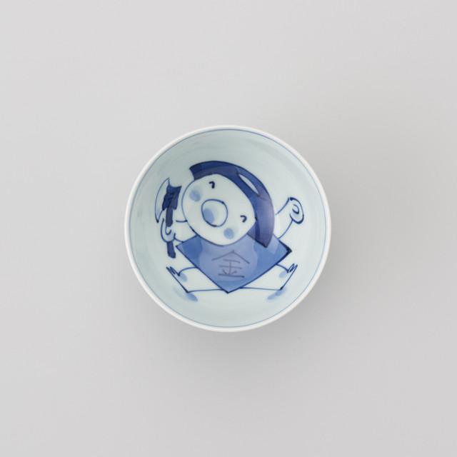 """【青花Kids】""""童話""""丸3.5寸飯碗(金太郎)"""