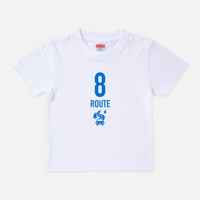 Tシャツ[Route8:キッズ]R8 Going my way ホワイト色