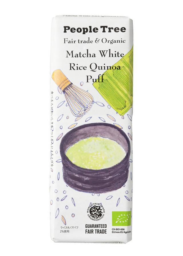 【有機】ピープルツリー 抹茶ホワイト・ライスキノアパフチョコレート 45g